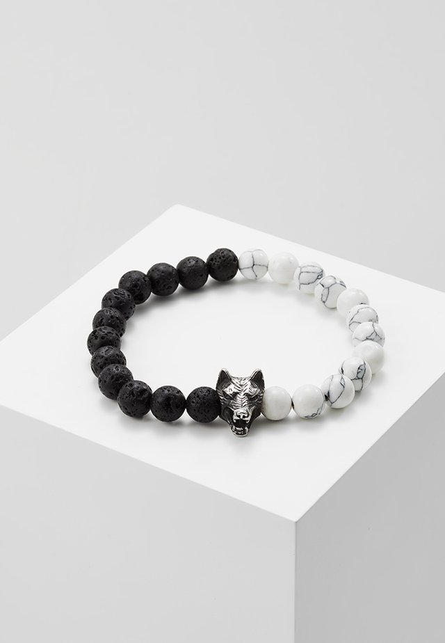 Armband - black/silver-coloured/white