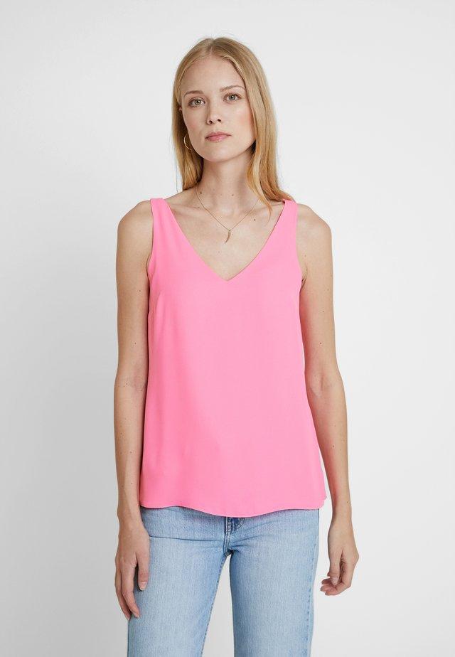 V NECK CAMI - Bluse - neon pink