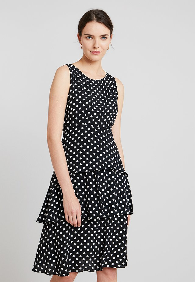 POLKA DOT TIERED PASADENA - Freizeitkleid - black/ivory