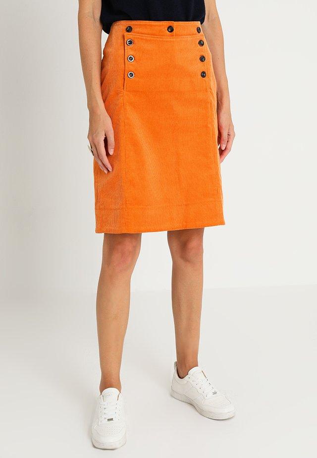 FINE - Pencil skirt - tomato cream
