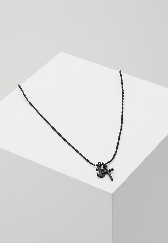 ANCHORED NECKLACE - Halsband - black