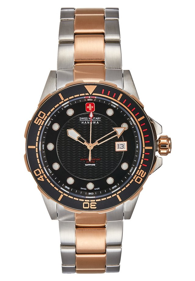 NEPTUNE DIVER - Rannekello - silver-coloured/rose/black