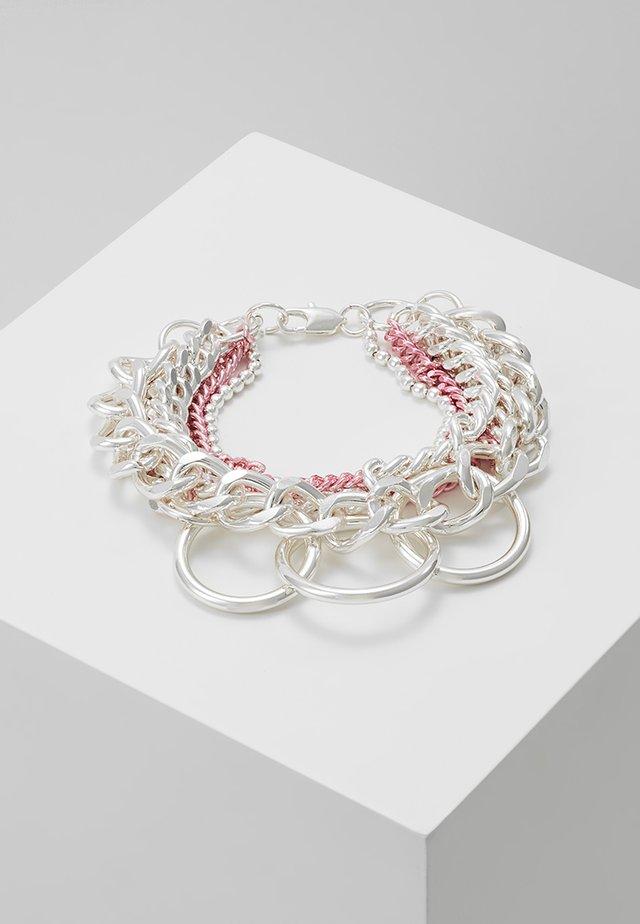 KAILASH MIX CHAIN - Bracelet - pink/white