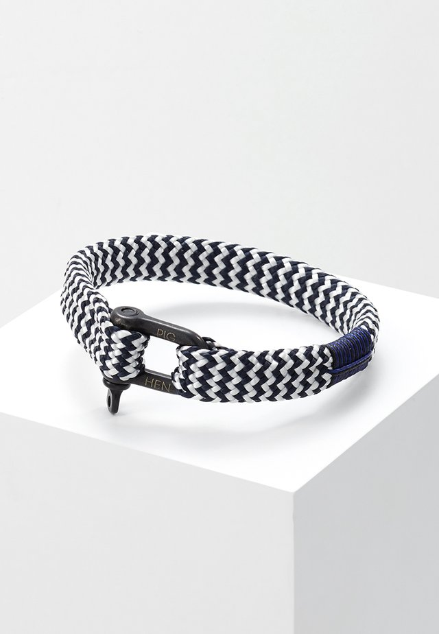 WHISKEY WILLY - Bracelet - navy/white