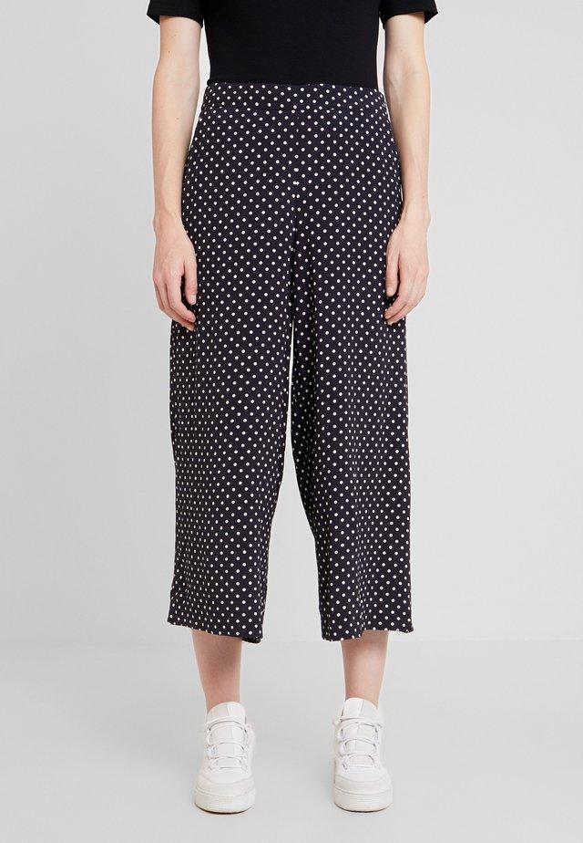 KAWAI CULOTTE PANTS - Spodnie materiałowe - night sky