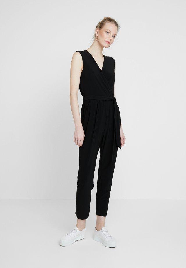 WRAP SIDE TIE - Jumpsuit - black