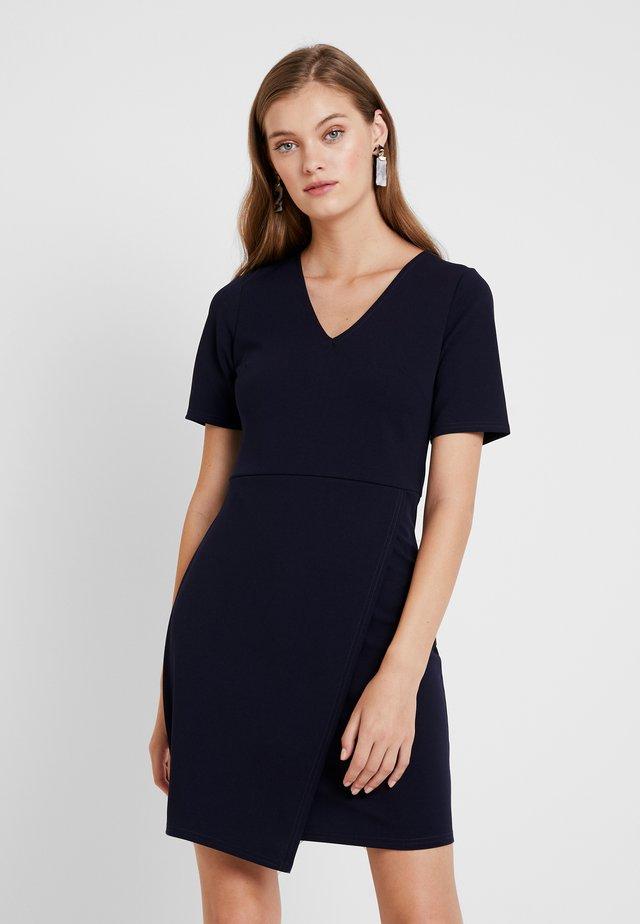 WRAP SKIRT BODYCON - Sukienka etui - navy