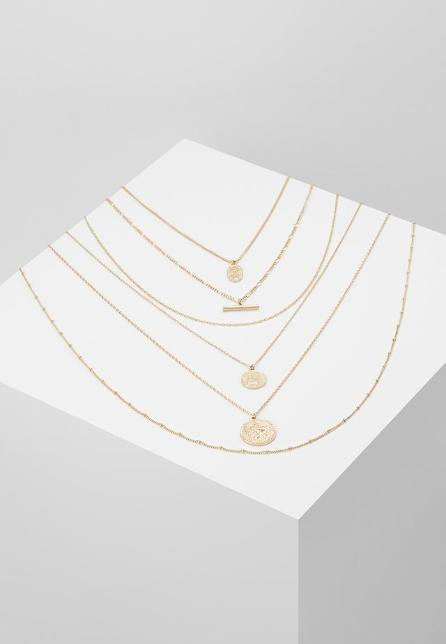 COIN BAR 6 PACK - Collier - gold-coloured
