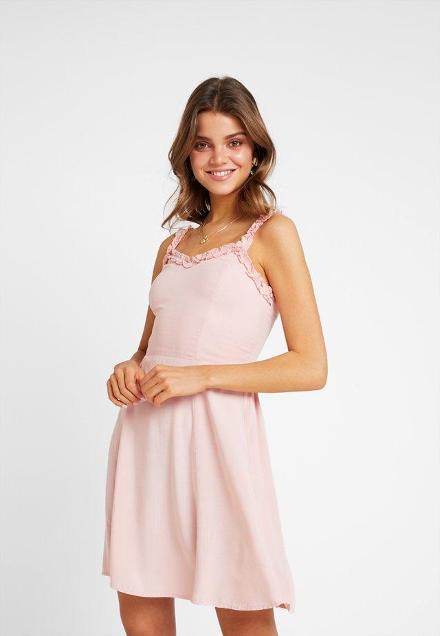RUFFLE EDGE SUNDRESS - Sukienka letnia - light pink