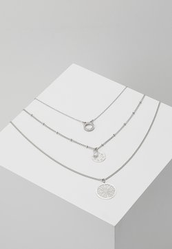 ONLFLARA 3 CHAIN NECKLACE 2 PACK - Ketting - silver-coloured