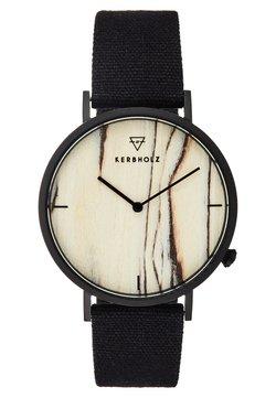 HENRI - Uhr - black/brichwood/black