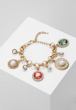 GEM AND PEARL CHARM BRACELET - Armband - gold-coloured