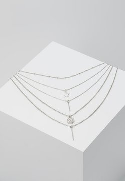 ONLLONNIE 5 CHAIN NECKLACE - Ketting - silver-coloured
