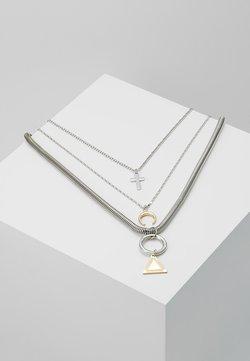 MULTI LAYER CHARM NECKLACE 3 PACK - Halskæder - silver-coloured