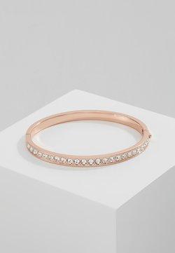 CLEMARA HINGE BANGLE - Armband - rose gold-coloured/crystal