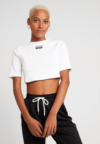 TEE - Basic T-shirt - white/black