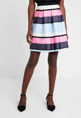 A-line skirt - blue/white
