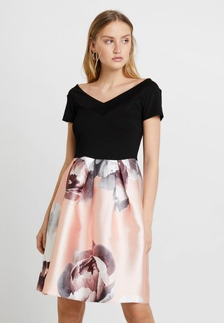 Jerseykleid - rose/black