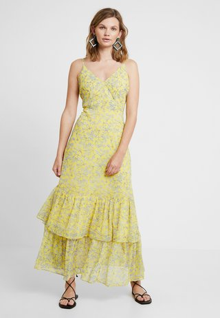PRINTED TIERED - Maxikleid - yellow