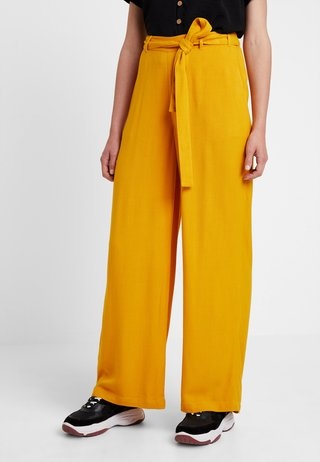 KAIDA PANTS - Bukser - old gold