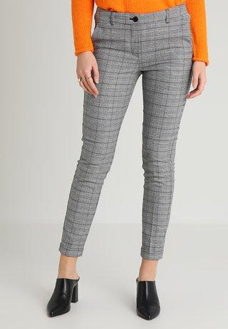 SLENNOX  - Trousers - schwarz/weiß