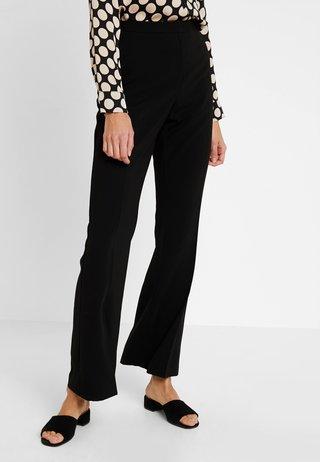 BOOTCUT - Pantalon classique - black