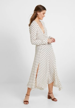 EXTURED DOT DRESS - Day dress - cream