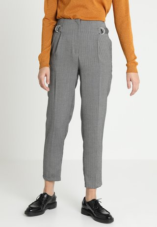 HERRINGBONE RING TAB TROUSER - Pantaloni - mid grey