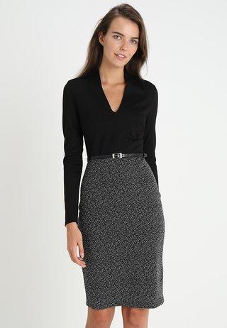 Shift dress - offwhite/black