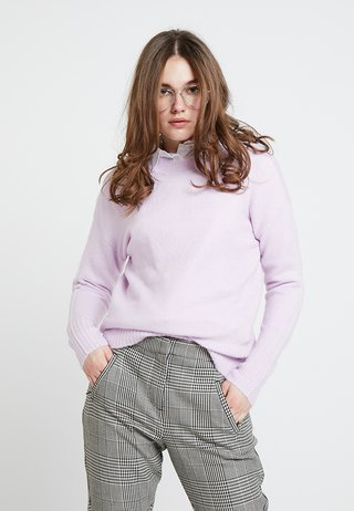 ANGELICA LEAD IN STRETCH JUMPER - Strikpullover /Striktrøjer - lilac
