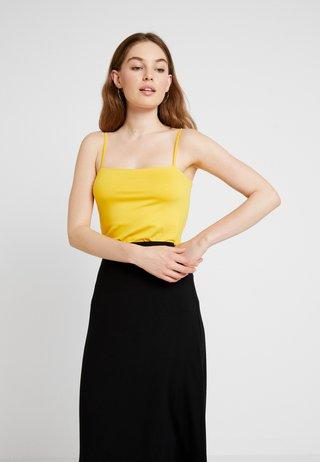 SQUARE NECK CAMI - Toppe - sunshine yellow