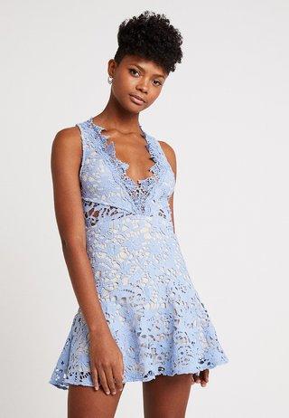 DANUBE MINI DRESS - Denní šaty - blue