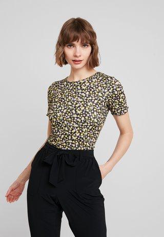 DITSY LETTUCE EDGE TEE - T-Shirt print - black
