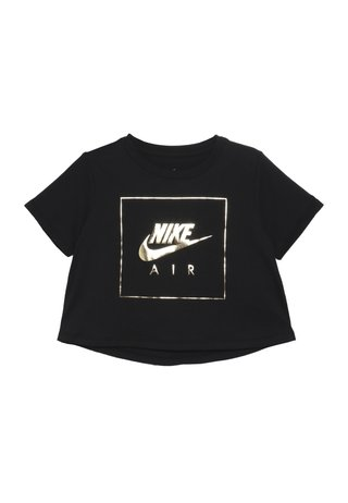 TEE CROP AIR - T-Shirt print - black