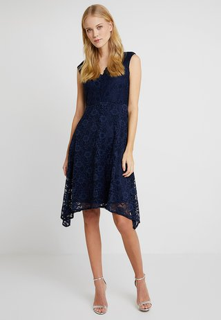HANKY DRESS - Vestido de cóctel - dark blue