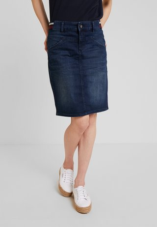 SKIRT BASIC - Blyantnederdel / pencil skirts - dark blue denim