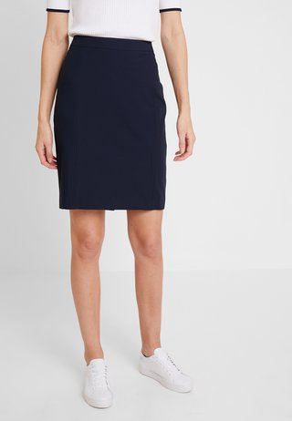 XANNE - Pencil skirt - navy