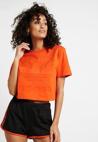 CROPPED TEE - T-shirt print - craft orange