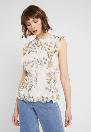 WHITNEY RUFFLE DETAIL BLOUSE - Bluser - antique rose
