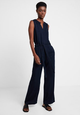 OVERALL SLEEVELESS WIDE LEG BELT - Overall / Jumpsuit /Buksedragter - blue blue denim