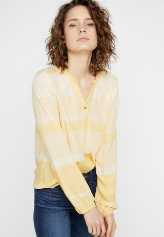 INA BLOUSE - Bluser - yellow