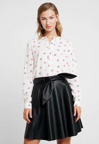 HORSE SHOE PRINT BLOUSE - Camicia - ivory pattern