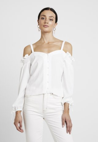 SQUARE NECK MILK MAID - Bluse - ivory