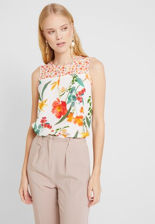 CORAL BOTANICAL SHELL - Blouse - ivory
