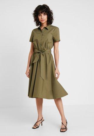 Shirt dress - african green