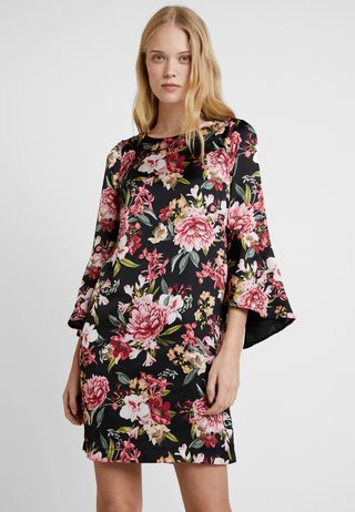 PRINTED DRESS - Day dress - black