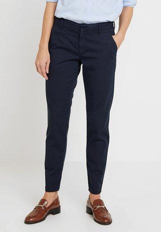 SAMIRA - Chino kalhoty - navy