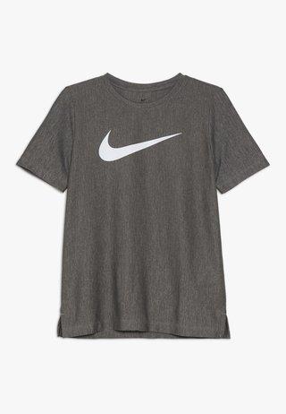 CORE - Camiseta estampada - black/white