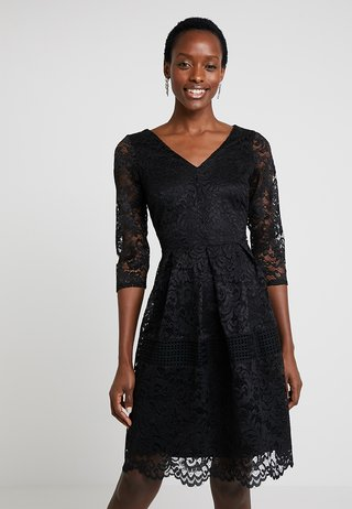 CROCHET INSERT - Cocktail dress / Party dress - black