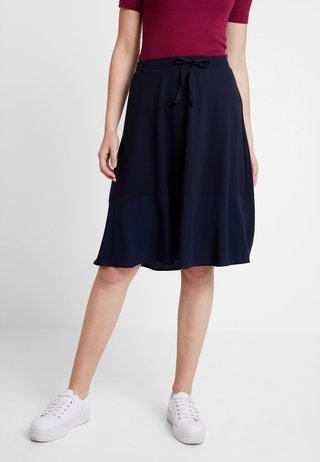 SKIRT BOTTOM CUFF - A-Linien-Rock - midnight blue